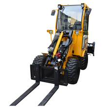 Articulated mini loader of wheel type for farming and garden