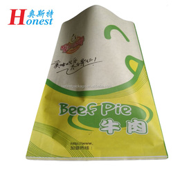 greaseproof coated paper bag for fried chicken snacks