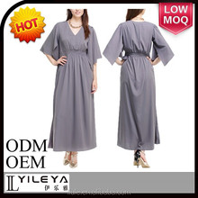 most popular casual plus size long sleeve maxi dress