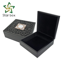 Custom new design laser cut wooden gift boxes for ramadan festival, engraved wooden dates box