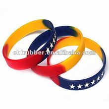 colorful embossed silicone band