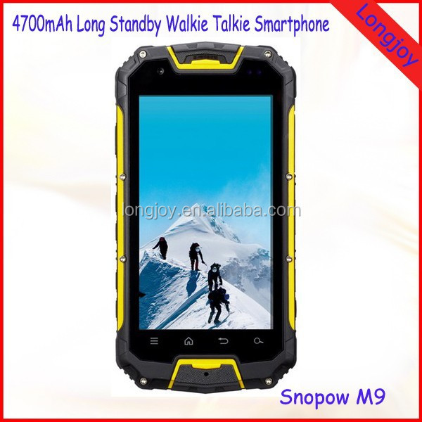 4.5 Inch Best Quality Outdoor Waterproof Shockproof Dustproof Cell Phone Support GPS NFC Walkie Talkie