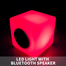 LED light wireless audio speaker bluetooth touch sensor led cube with mini speaker controlled by remote $ phone