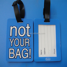 Personalized Not Your Bag PVC Luggage Tag