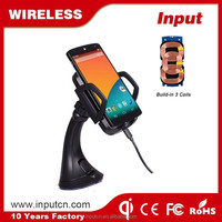 2015 hot qi wireless car charger dock