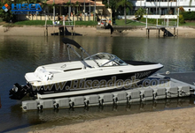 jet ski wharf used floating pontoon