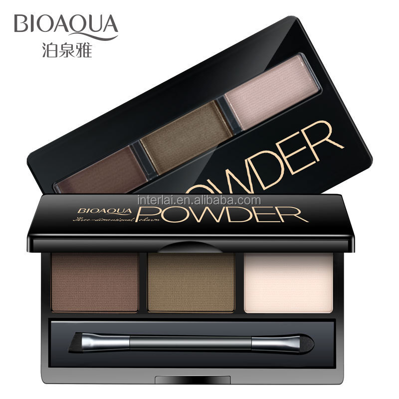 Wholesale Own Brand BIOAQUA Three Dimensional Natural Waterproof Eyebrow Powder with Brusher