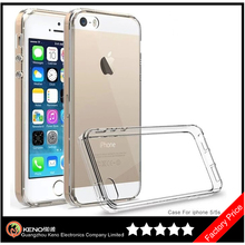 Keno For Apple iPhone 5 6 6S TPU Back Shockproof Bumper Clear Transparent Hard Case