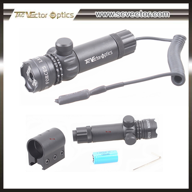 Vector Optics Tactical Guardian 5mW Red Laser Sight Scope with E&W Scope Adjustment and Mount ring