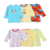 Bulk Infant Cotton Baby Clothes Baby Long Sleeve Printed Embroidery Child T-shirt