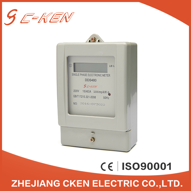 Cken China 220V 50Hz LCD Single Phase Energy Meter Electronic Type Kwh Meter