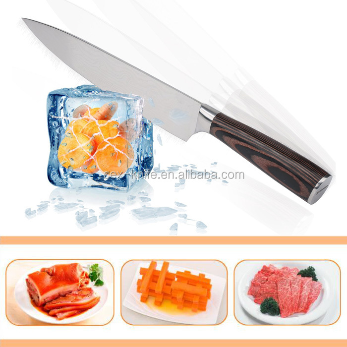 3cr14 Stainless steel chef knife kitchen cutting knife