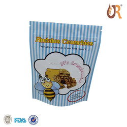 Laminated Hot Chicken Packaging Zip Lock Transparent Plastic Bag/stand-up food grade plastic bags