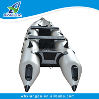 Fishing kayaks Korea PVC tube inflatable boat with electric motor