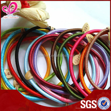 Polyester/nylon/rayon and rubber scrunchies hair accessory for sale