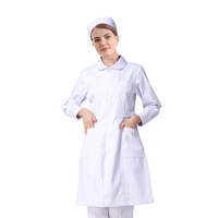 long sleeve white medical doctor coats scrubs nurse dress uniform