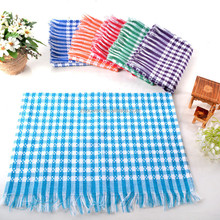 2017 new products 100 cotton jacquard kitchen tea towels set with tassels