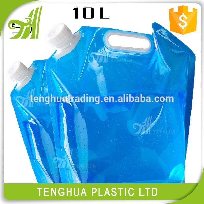 Transparent plastic bags stand up pouches/foldable spout water pouches