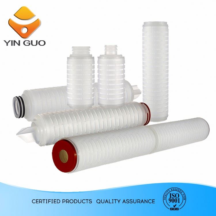 DPP Series Pleated Depth Filter water filter cartridge 0.45 micron filter for Industrial Marking&Coding
