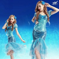 Fashion stage dance dress,sexy mermaid dance costume,fish fancy dress costume