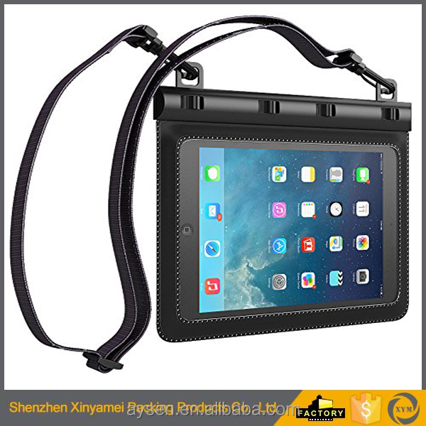 3 meter swimming diving PVC materialWaterproof Smart phone Carrying Case Universal waterproof Pouch with Arm Strap for Ipad MINI