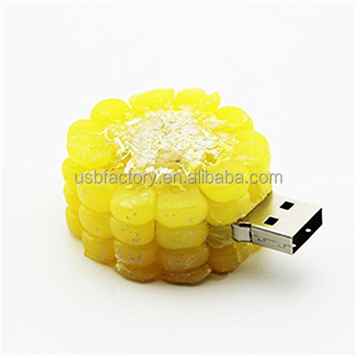 8GB USB Flash Drive Factory Pvc Imitation Food Corn Food Fruit Gift Customized Usb Flash Drive