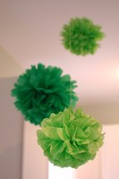 Wholesale...Paper Decorations Hanging Tissue Pom poms For Christmas Decorations