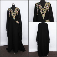 Cotton long kaftan designer Jilbab Abaya Dress Galabeya k1298