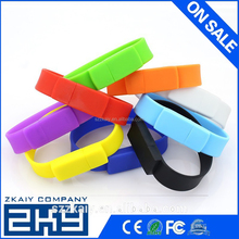 100% real capacity Silicone Bracelet Wrist Band 4GB 8GB 16GB 32GB USB 2.0 USB Flash Drive Pen Drive Stick U Disk gift