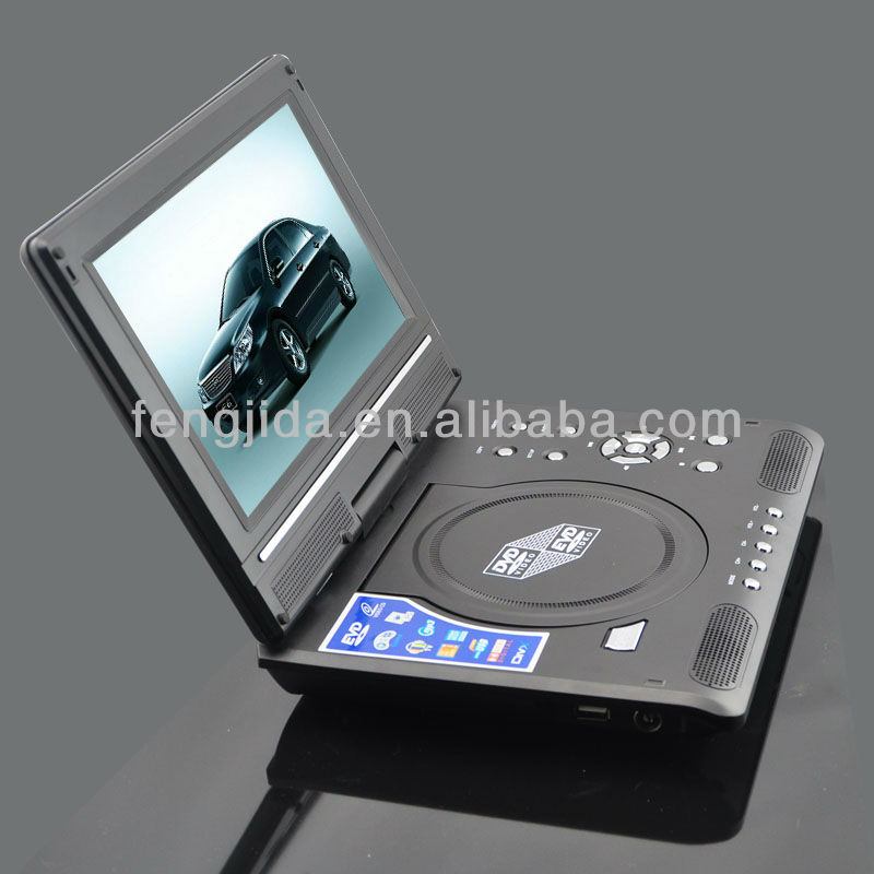 Mobile DVD 9 inch portable DVD player with a big screen TV HD EVD video player