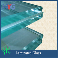 High quality tempered laminated glass price low in glass factory