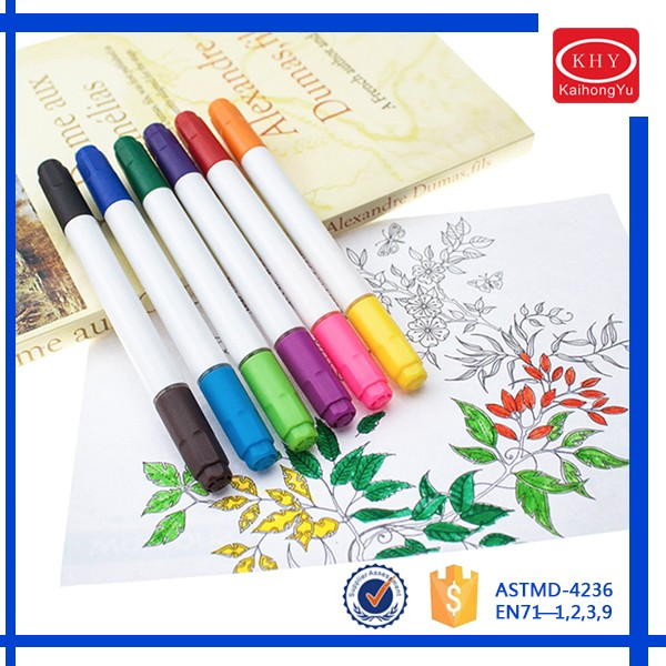 School Pens High Quality Twin Tips Factory Price 60 Colors Water Color Pens
