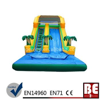 Big size customized inflatable swimming pool slide buy for Large size inflatable swimming pool
