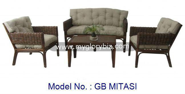 Rattan sof conjunto de rattan modern living set for Conjunto rattan sintetico barato