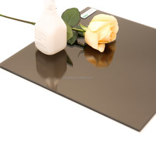 Beautiful 5mm Float Glass Euro Bronze Mirror Used For Wall-Claddings Decoration