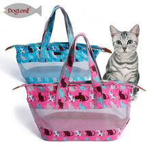 2017 New design Cat Travel Bag Soft Canvas and Mesh Light Pet Carrier