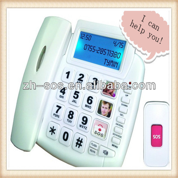 2014 hot selling cheap sos telefones, caller id box telephone, music ring corded hotel phone
