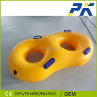 Chinese personalized promotion OEM funny PVC inflatable twin swim ring