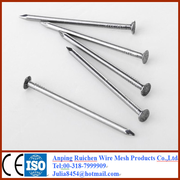 Hot-selling polished common nails/roofing nails/flat head nails from Anping Ruichen