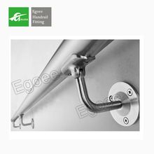 manufacturer stainless steel Flexible round wall handrail bracket for tube pipe stair handrail