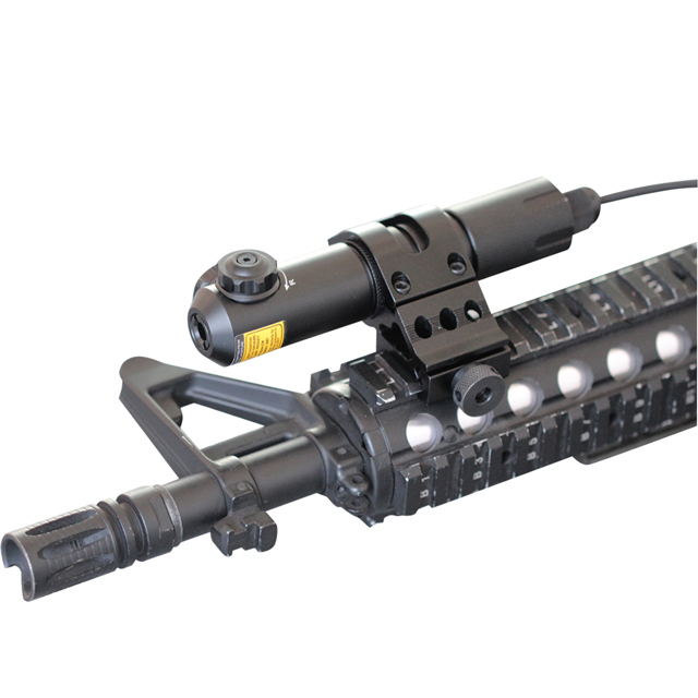 gun-shaped laser pointer with scope mount