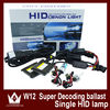 Best Price W12 Slim Canbus Ballst H11 Xenon Lamp Bi-xenon 4300k 6000k 8000k 10000k HID Xenon Assembly Kit