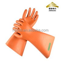 25kv rubber safety electrical insulating gloves for linemen hand protection