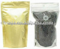 aluminium zip lock coffee pouch/aluminium package with transparent window/stand up pouches foil bags