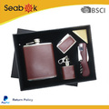 2017 Luxury Gift Set Wine Pot Cigarette Case Lighter With Keychain For Office Businesss