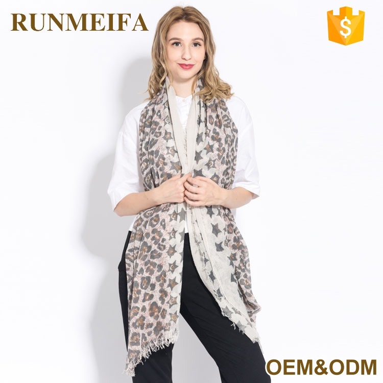 New Design Good Character Factory Outlet Custom Printed Branded Shawl Scarf Wrap