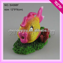 Large aquarium resin tropical ornamental fishes ornaments different types fishes