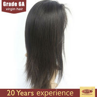 human hair wig/ factory price silk natural straight 100% virgin brazilian human hair wig