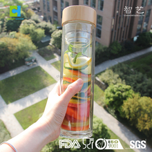 High Quality Food Grade Bpa Free Borosilicate Glass Water Bottle Juice Bottle For Promotion