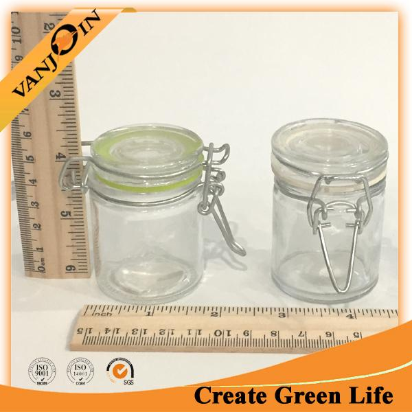 Recycled Airtight Glass Jars With Custom Lids Promotion